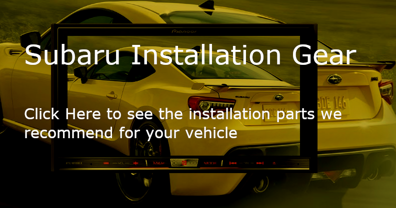 Aftermarket Car Stereo/Navigation Installation kits for Subaru